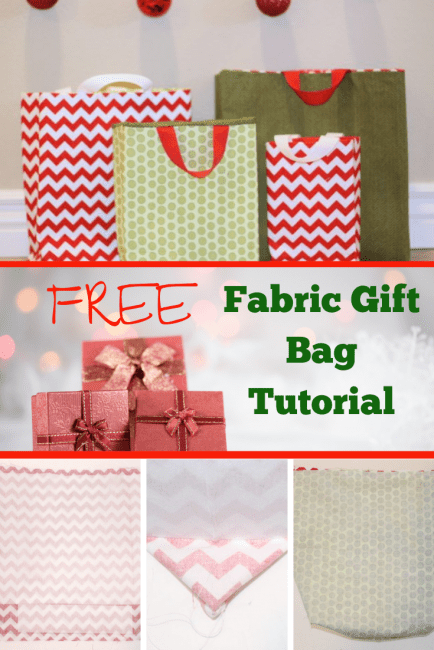 FREE Pattern for Fabric Gift Bags