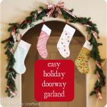 Easy Christmas Doorway Garland
