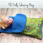 FQ Doll Sleeping Bag Tutorial
