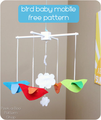 Bird baby mobile free pattern
