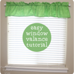Easy Window Valance Tutorial