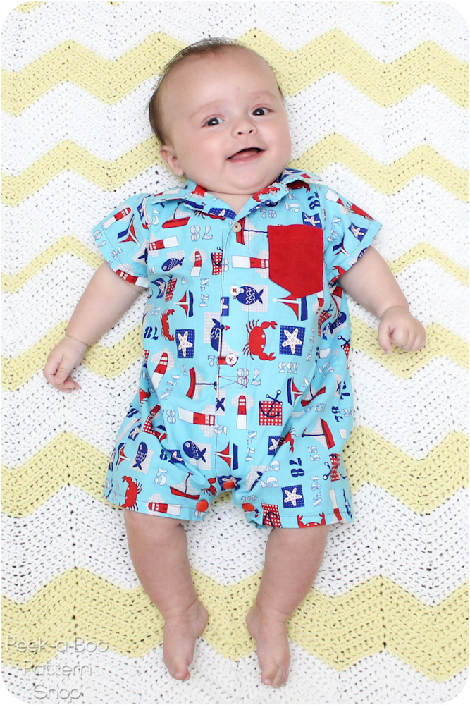 Button Up Baby Romper Pattern