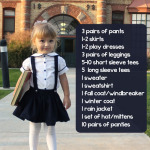 Back to School Clothing Checklist