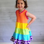 How to Sew a Tiered Ruffle Dress with Any Bodice