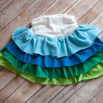 T-shirt Ruffle Skirt Tutorial