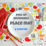 Roll-up Reversible Place Mat Tutorial