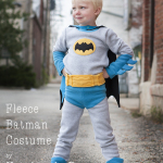 Fleece Batman Costume  Tutorial