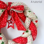 Christmas Braided Wreath – a tutorial