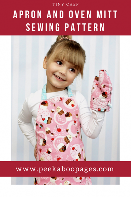 Toddler Apron and Oven Mitt Tutorial