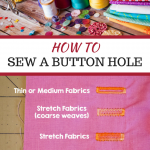 How to Sew a Buttonhole – Sewing Basics
