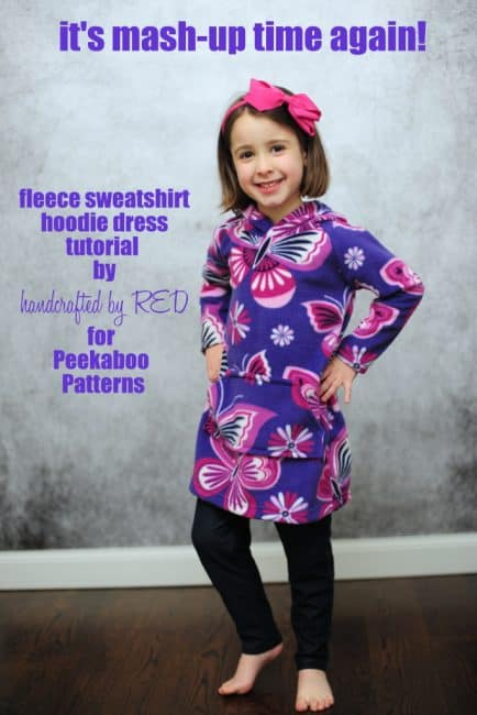 DIY Fleece Hoodie Dress