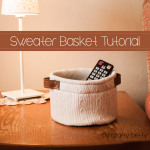 Sweater Basket Tutorial