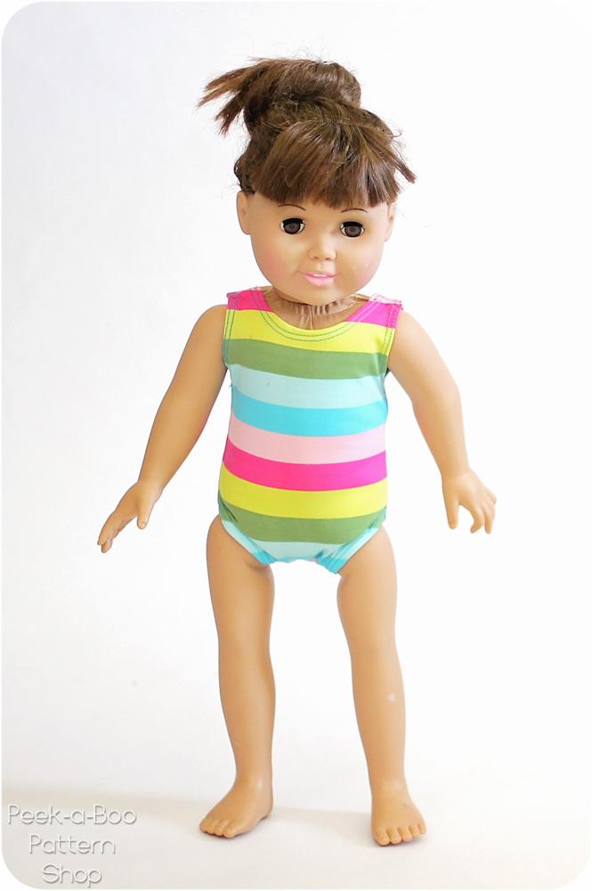 Free 18 Quot Doll Swimsuit Amp Leotard Pattern Peek A Boo