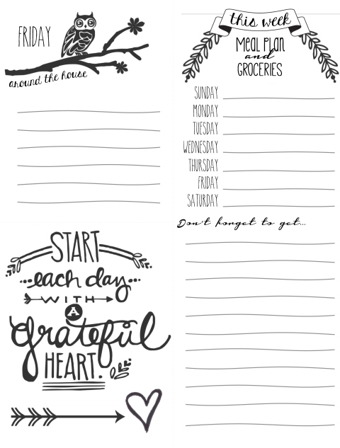 picture about Free Printable to Do Lists to Get Organized titled Free of charge Printables towards Assist Oneself Consider Geared up - Peek-a-Boo Internet pages