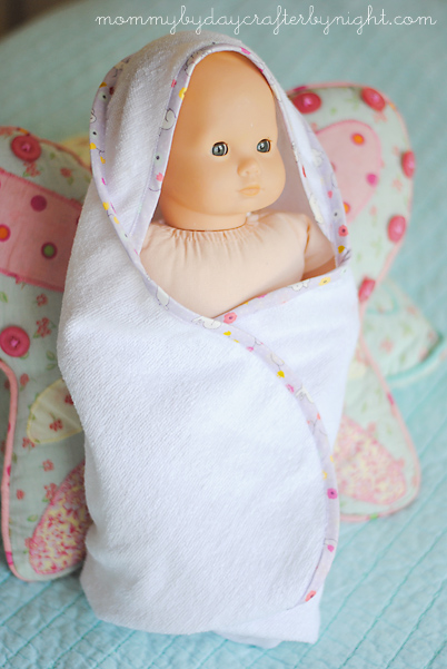 DIY hooded towel for doll