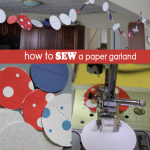 Easy Stitched-Paper Garland