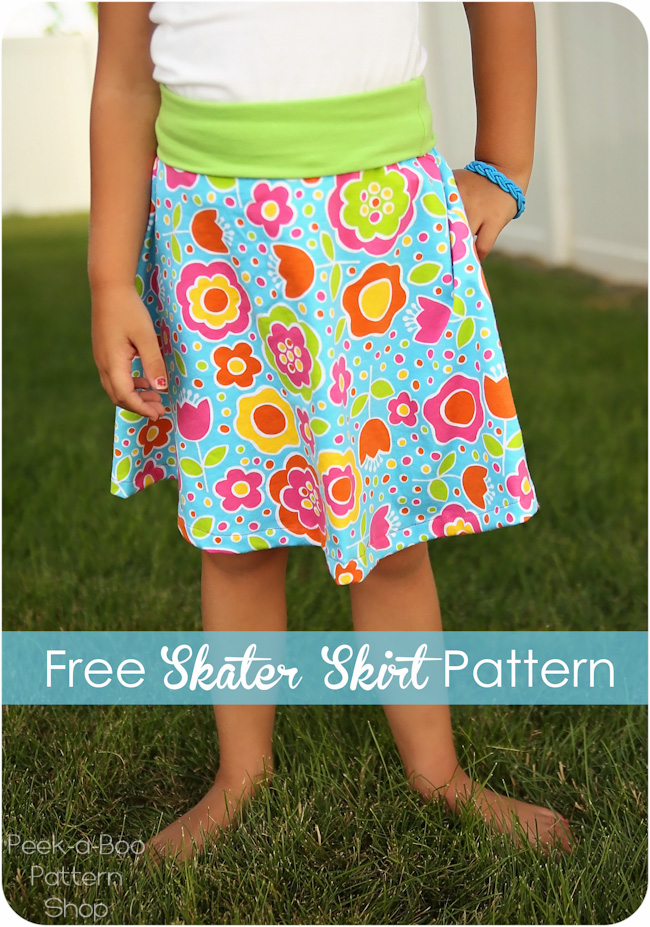 free skater skirt pattern on girl