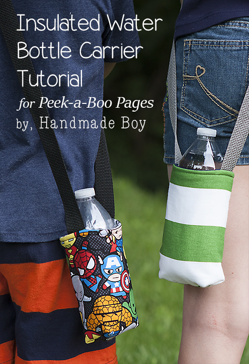 Insulated Water Bottle Carrier Peek A Boo Pages