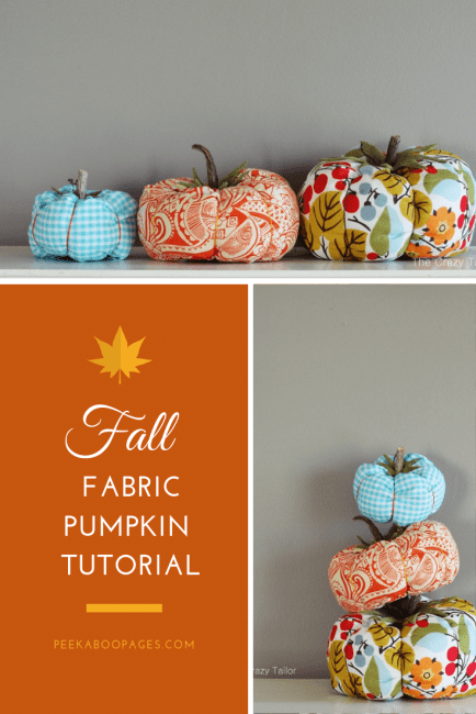 Fabric Pumpkins DIY Tutorials