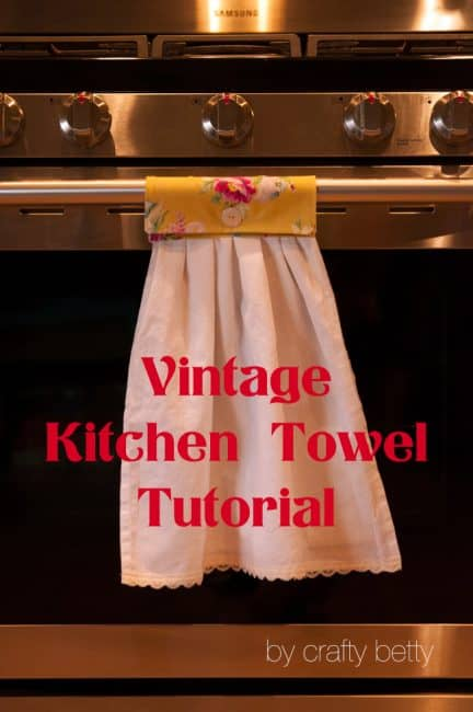 DIY Vintage Kitchen Towels