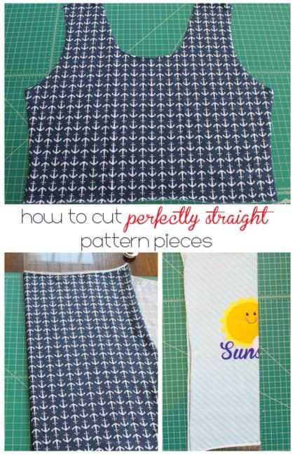 Cutting Straight Pattern Pieces