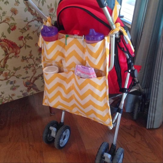stroller caddy tutorial