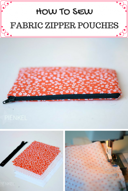 Fabric Zipper Pouch Tutorial