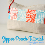 A Simple Lined Zipper Pouch – Tutorial