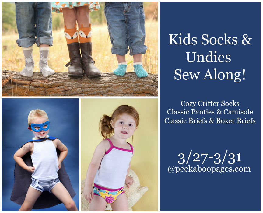 Kids socks and undies sew along