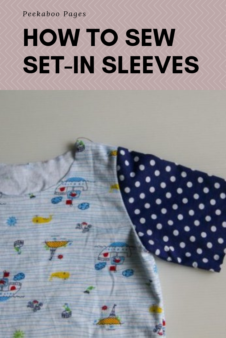 How To Sew Set In Sleeves Peek A Boo Pages Patterns