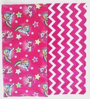 Minky Baby Blanket You choose color backing You choose size. Fuschia Chevron