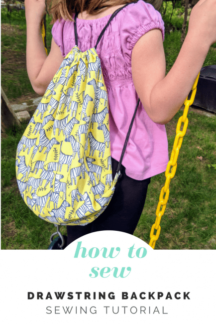 How To Sew A Drawstring Backpack Peek A Boo Pages