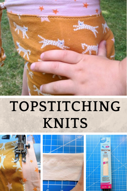 How to Topstitch Knits