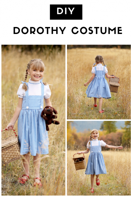 Diy Dorothy Costume Peek A Boo Pages Patterns Fabric