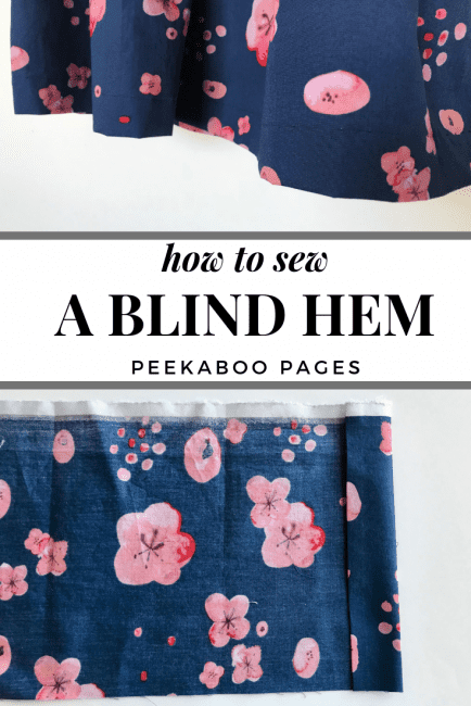 Sewing a Blind Hem