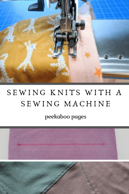 How to Sew Knits with a Sewing Machine
