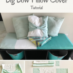 Big Bow Pillow Cover Tutorial