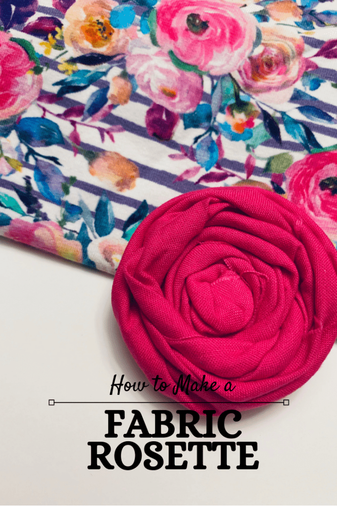 how to make a fabric rosette.