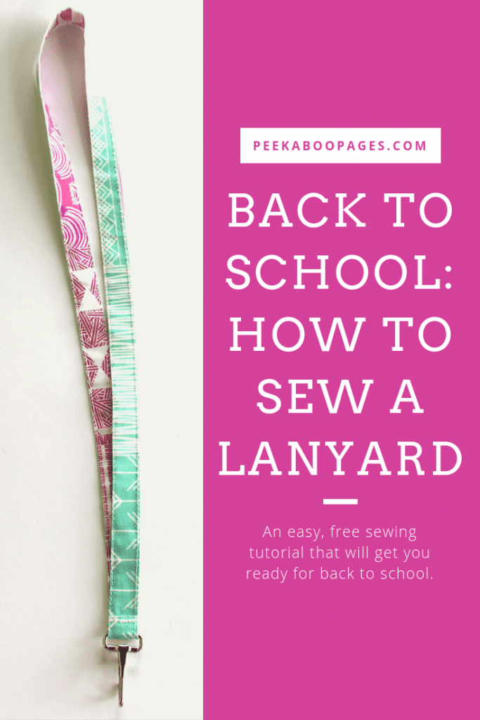 Back to School: How to Sew a Lanyard, Photo by Marci Debetaz, Image created with Canva.